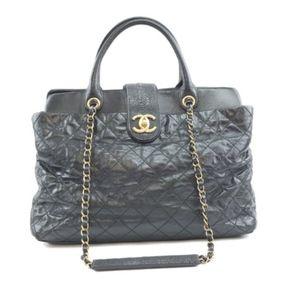 Rare Bindi  Satchel Black Calfskin Shoulder Bag